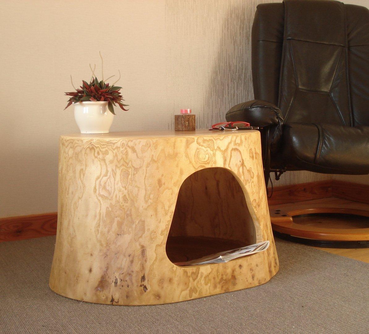 baumstamm aush hlen s ule kaufen. Black Bedroom Furniture Sets. Home Design Ideas