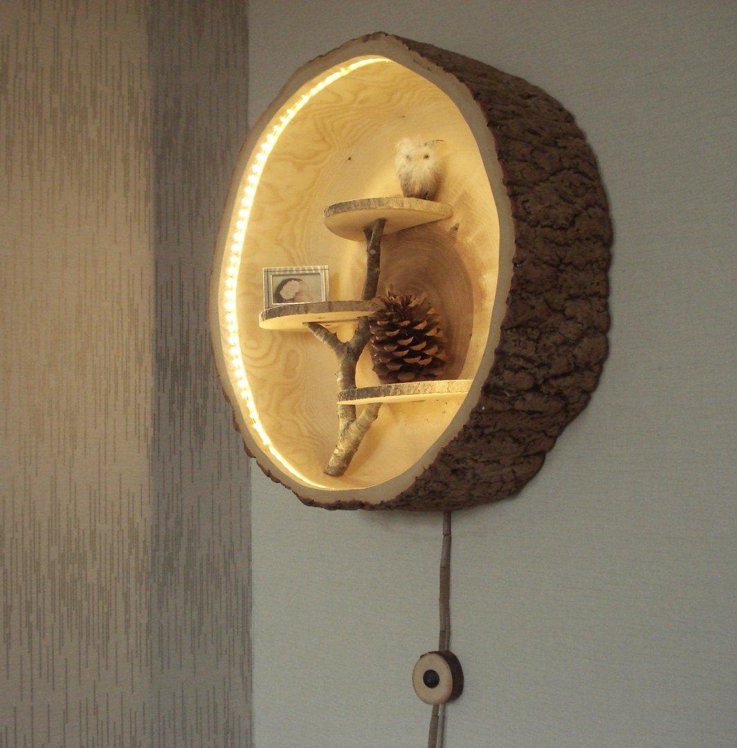 wandleuchte aus der natur baumscheiben tisch oder baumstamm tisch kaufen. Black Bedroom Furniture Sets. Home Design Ideas